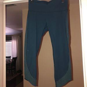 Teal crop Lululemon leggings